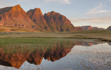 Rock Pools and Peaks, Lesotho, Africa