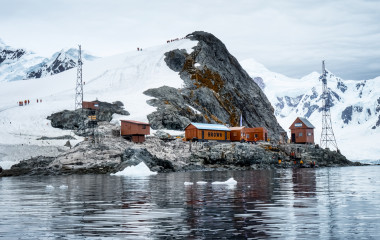 Brown Station an Argentine Antarctic base and scientific research station located at Paradise Bay, Antarctica