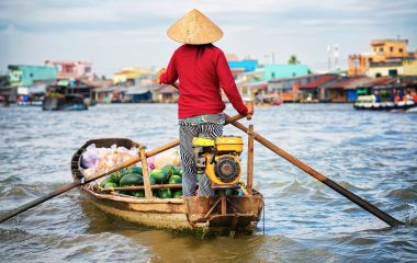Enchanting Travels Vietnam Tours Floating market at the Mekong in Can Tho, Vietnam