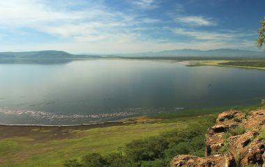Lake Nakuru aus der Luft gesehen