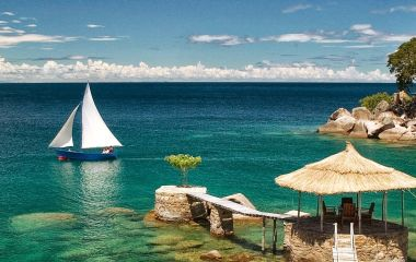 Boat in Lake Malawi in Africa