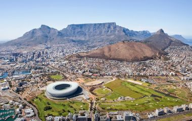 Cape Town tour seen from above