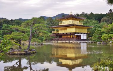 Kinkaku ji golden temple in Kyoto Japan Asia