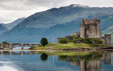 Eilean Donan Castle, Island in Loch Duich, Scotland