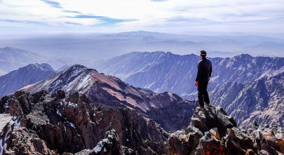 Things to do in Morocco Enchanting Travels Morocco Tours Toubkal summit view Morocco