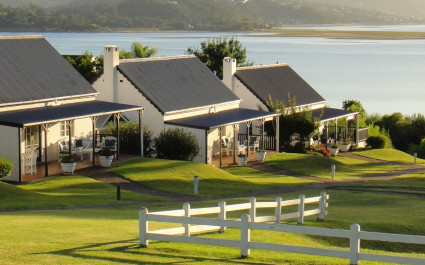 Außenansicht im Belvidere Manor, Garden Route, Südafrika