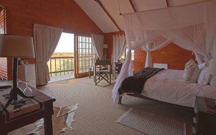 Double room at Bagatelle Game Ranch, Kalahari Desert in South Africa