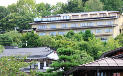 Außenansicht im Hotel Hoshokaku Takayama in Takayama, Japan
