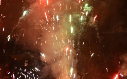 Feuerwerk beim Diwali-Fest der Lichter in Indien