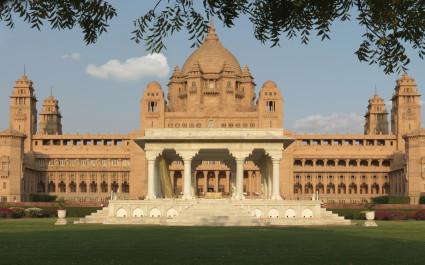 Umaid Außenansicht von Bhawan Palace, Jodhpur