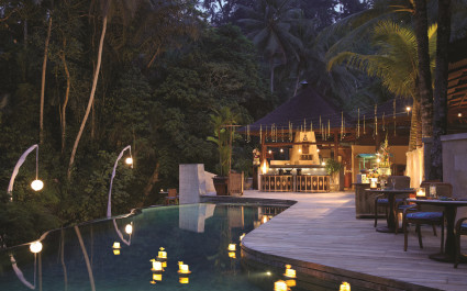 Pool at Four Seasons Resort Bali at Sayan Hotel in Ubud, Indonesia