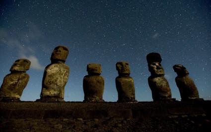 Moai Statuen in Chile
