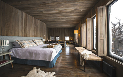 Schlafzimmer im Hotel Awasi-Patagonia, Chile