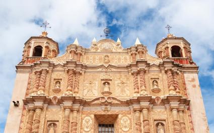 Die Santo Domingo Kirche in San Cristobal de las Casas, Mexiko