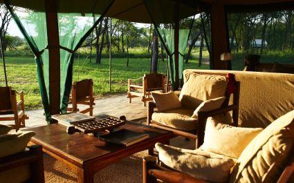 Sitting area at Dunia Camp C Serengeti (Central) in Tanzania