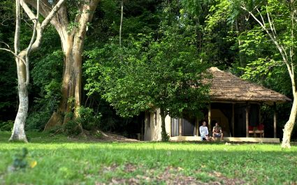 Guest Chalets at Rubondo Island Camp Hotel, Lake Victoria in Tanzania