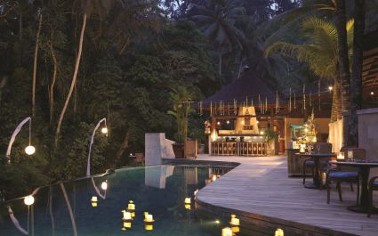 Pool at Four Seasons Resort Bali at Sayan Hotel in Ubud, Indonesia