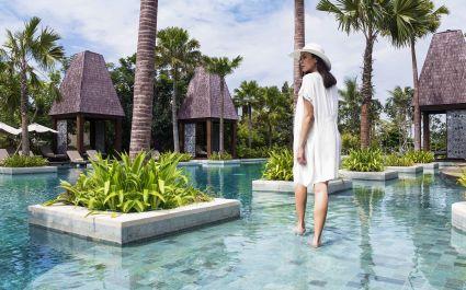 Pool area at Sofitel Bali Nusa Dua Beach Resort Hotel in Nusa Dua, Indonesia