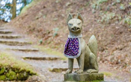 Statue of a fox near Enryakuji Temple