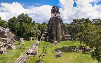 The Central Plaza and Temple I at Tikal National Park