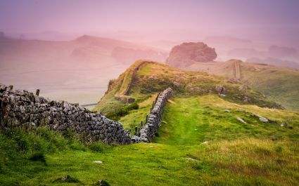 Hadrian's Wall, also called the Roman Wall