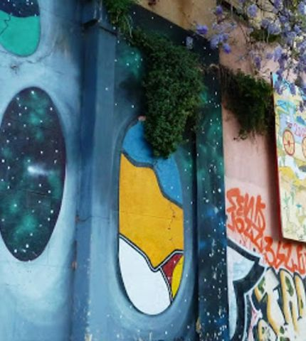 Graffiti, thriving urban, Valparaiso, Chile, South America