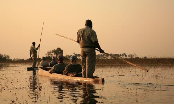 Kanusafari im Okavango Delta