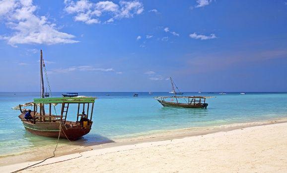 Ansicht des Strands von Sansibar