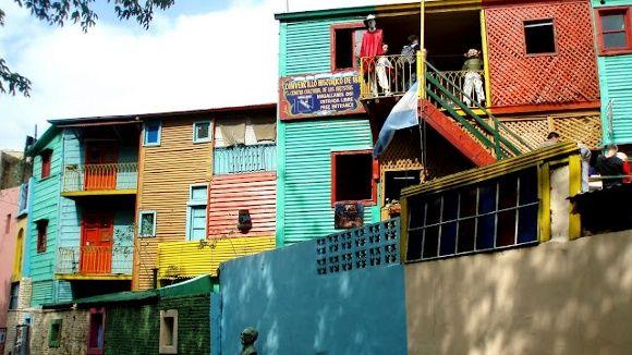 Bunte Wohnung in Argentinien