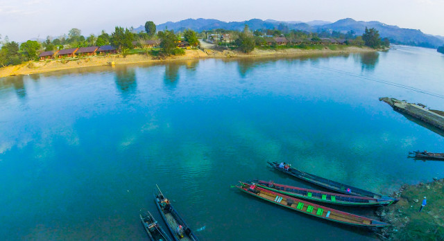 River overview at Hotel Riverside – Hsipaw Resort in Hsipaw, Myanmar