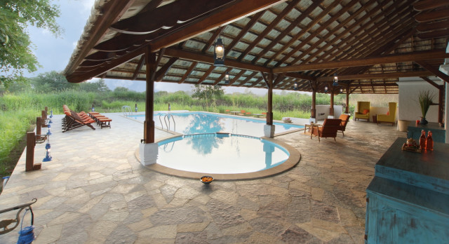 Pool at Svasvara Resort Hotel in Tadoba, Central & West India