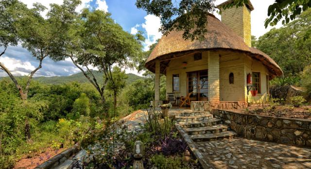 External view at Musangano Lodge in Eastern Highlands, Zimbabwe