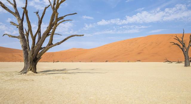 Auf afrika Reisen die weite Wüste erleben: Sossusvlei in Namibia