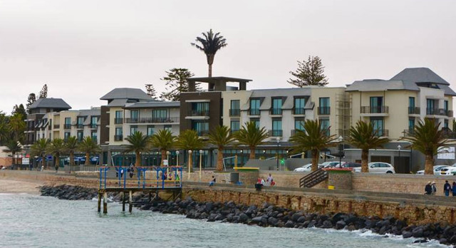 Outside view of The Strand Hotel, Swakopmund, Namibia, Africa
