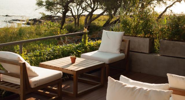 Terrace at Charco Hotel, Colonia de Sacramento, Uruguay