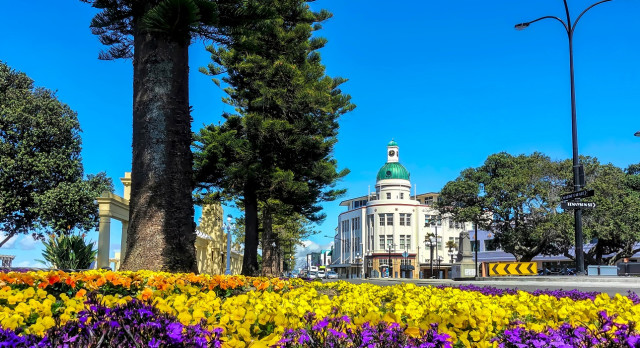 Enchanting Travels New Zealand Tours The Dome - Napier's Iconic and True Art Deco Style Building
