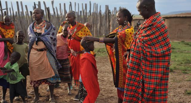 Masaai welcome