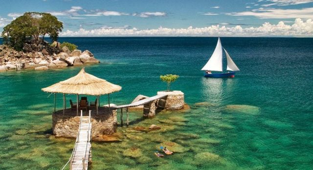 Secluded fresh water beach lodges on Lake Malawi