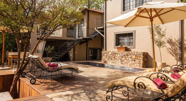 Verandah at Grove Guesthouse, Windhoek in Namibia