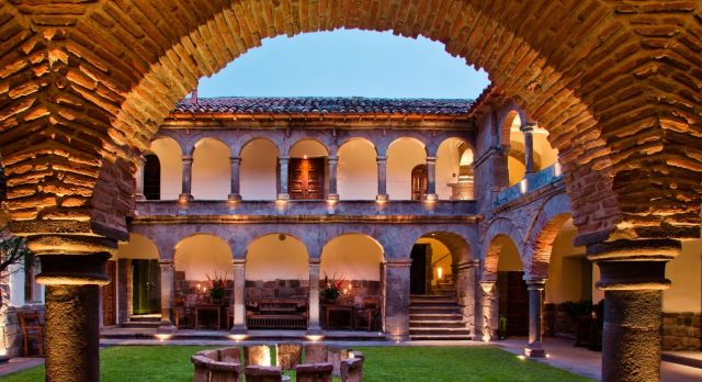 Courtyard at Inkaterra La Casona in Cusco, Peru