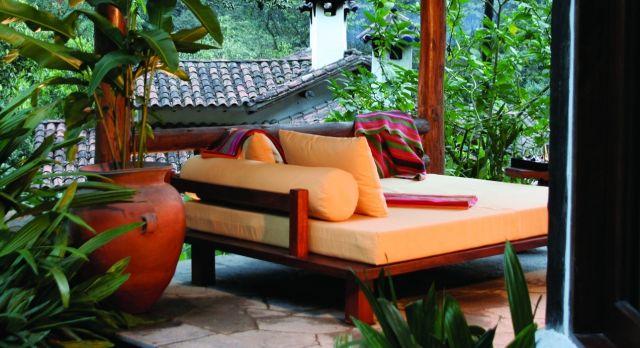 Relaxing nook at Inkaterra Machu Picchu in Peru