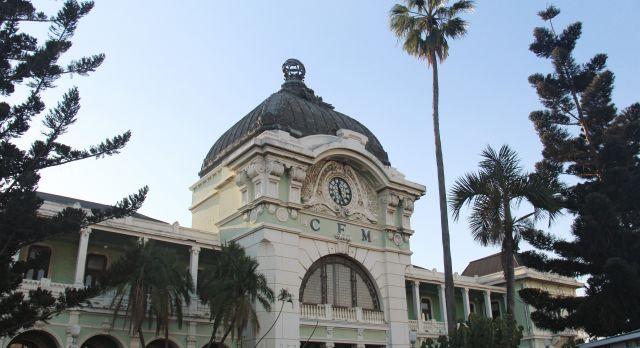 Der von Eiffel entworfene Bahnhof in Maputo