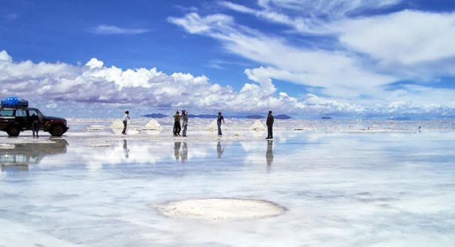 Optimische Täuschungen im Salar de Uyuni