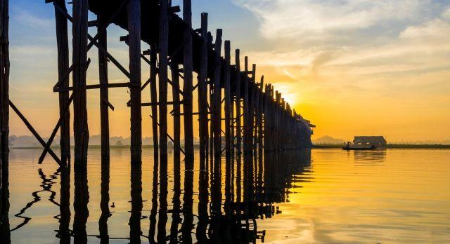 Die Ubein Brücke in Mandalay