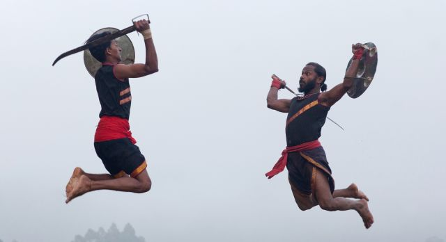 Enjoy a martial arts performance on a South India vacation