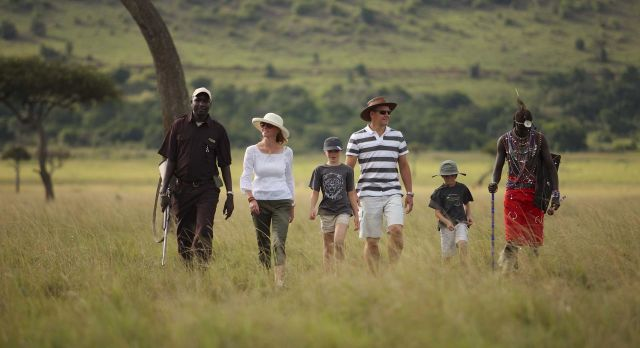 Nature walk at the Kichwa Tembo Tented Camp