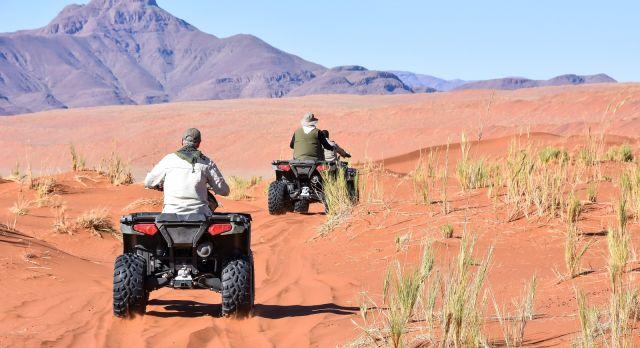 Go quad biking in Namibia on your luxury African safari
