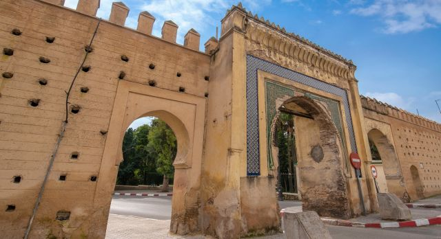 Gateway to the walled medina of Fes in Morocco