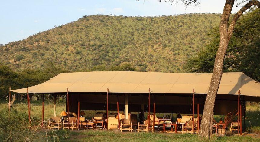 Außenansicht von Safari-Zelt
