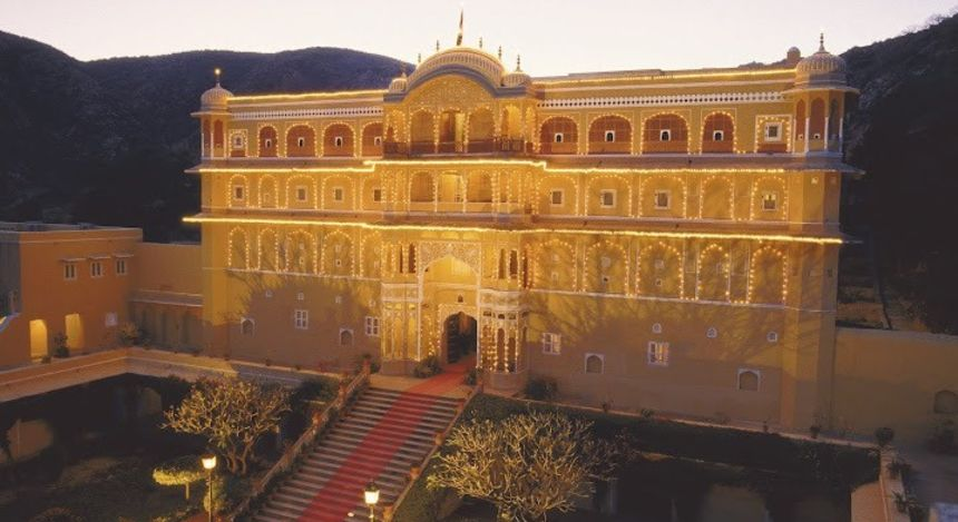 Enchanting Travels - India Tours- Samode Village-Samode Palace - front Facade